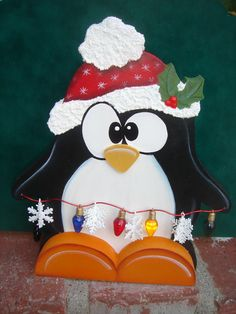 Penguin wood crafts
