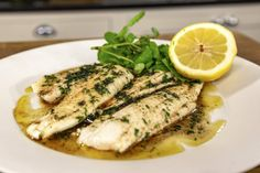 Lemon sole is a flat fish which is native to Northern Europe. It is best when simply cooked and served with a buttery sauce, just as it is here! Fish Recipes Pan, Raw Food Recipes, Cooking Recipes, Lemon Sole Recipes, Sole Fish, Flat Fish, Recipe For 1, Pan Fried Fish, Great British Chefs