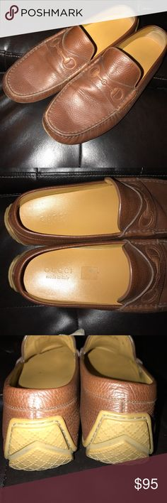 Men's Gucci loafers Pretty good condition Gucci loafers, minus the front being scuffed. Gucci Shoes Loafers & Slip-Ons