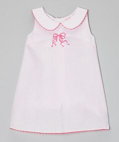Take a look at this Pink Bow A-Line Dress - Infant, Toddler & Girls by Emily Lacey on #zulily today!