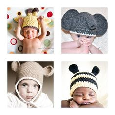 Animal Hat Patterns Get One Free 0 months to 3 years by TCTbaby, $10.50