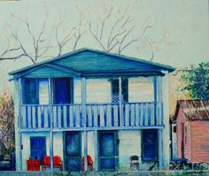 Blue house Gainesville FL by David Knopf