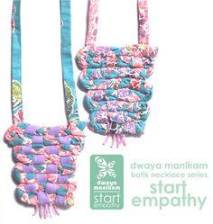 """Dwaya Manikam """"Start Empathy""""Program: Batik Necklaces"""