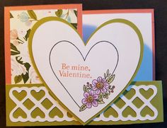 This is a handmade Z-Fold Style card with a sentiment stamped on the front of card and the inside of the card is blank.