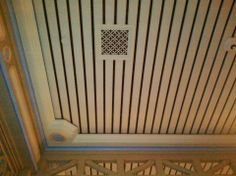 Decorative architectural wood air vent cover grille