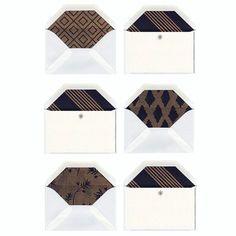 gold + black letterpress cards