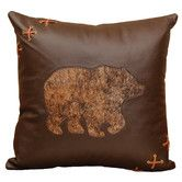 Found it at Wayfair - Decorative Bear Cut Out Pillow With Deerskin Lacing
