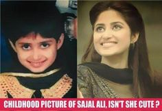 Sajal Ali Childhood Photo: Pakistani Most Talented New Comer Female Actress Sajal Ali's Cute Photo of her childhood.