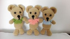 Stuffed Animals – Crochet Little Bears – a unique product by MadamLove on DaWanda Pattern designed by One and Two Company.