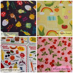 Bento Lunch Napkins  choose your own set   cute by BeneficialBento, $11.25