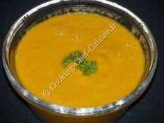 Soupe de carottes épicée au lait de coco au Cooking Chef