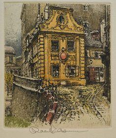 ROBERT KASIMIR (1914-2002) WIEN DREIMÄDERLHAUS UNIVERSITÄT RADIERUNG SIGNIERT New Day, Art For Sale, Happiness, Ebay, Painting, Postage Stamps, Shopping, Brand New Day, Bonheur