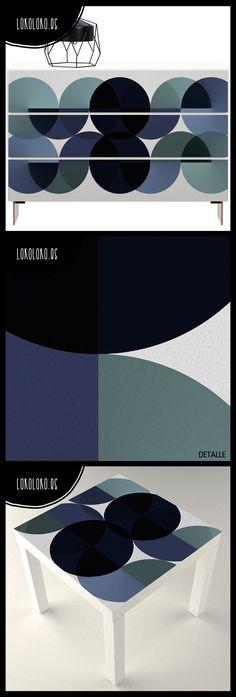 Diseño de esferas gradientes. El vinilo perfecto para tus muebles · #lokolokodecora #lokolokodecora