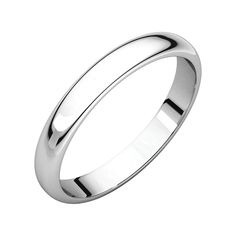 10KY 3mm Milgrain Half Round Band Size 7 Size 7 Length Width 3