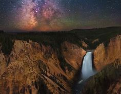 The Milky Way above Yellowstone National Park.