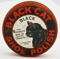 BLACK CAT SHOE POLISH TIN - Black Cat pix (09/06/2009)