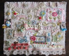 collage embroidery My Lovely Life