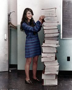 Nasa software engineer and mathematician Margaret Hamilton is seen here in 1969. She was a...