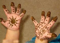 Easy Mehndi Designs For Kids On Eid
