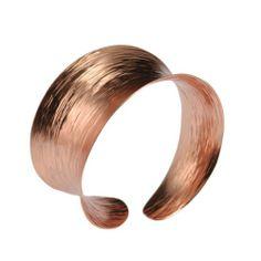 Amazon.com: John S Brana Anticlastic Copper Bark Bangle Bracelet: Jewelry