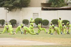Federal Area's Player Pre-Match Training.