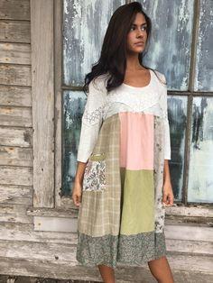 Gemma dress-medium large-artsy-Eco clothing-upcycled