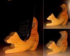 Подставка для телефона из дерева Кот phone stand wood cat wood dock station phone