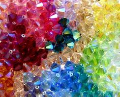 Resultado de imagen de colorful swarovski beads