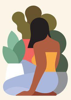 'Plant Lady' by Rob Bailey #colori #illustrazione