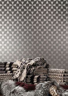 Wall Stencil Mosaic Geometric Pattern Wall Room Decor Made by OMG Stencils Home Improvements Color Paintings 0220