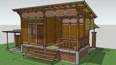 Paviliun 3x6 M2 Konstruksi Kayu - 3D Warehouse