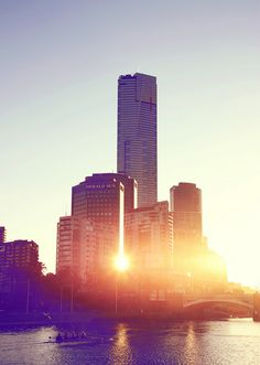 Sunset in Melbourne, Australia