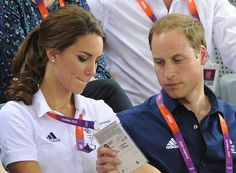 LONDON, ENGLAND - AUGUST 02:  Catherine, Duchess of Cambridge and Prince William, Duke of Cambridge attend Cycling on Day 6 of the London 2012 Olympic Games at the Velodrome on August 2, 2012 in London, England.