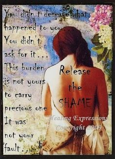 RELEASE THE SHAME altered art therapy by HealingExpressions