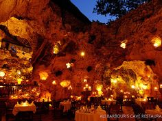 The 10 Most Incredible Restaurant Settings in the World | ALI BARBOUR'S | Diani Beach, KenyaLocated inside a 120,000-year-old natural cave, this restaurant boasts classic French cuisine with a hint of African flare. The best part, though? The cave's natural openings provide a perfect view of the stars.