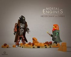 Hester Shaw confronts Shrike (Mortal Eniges) Mortal Engines, Lego Stuff, Orphan, Betrayal, Shed, Engineering, Army, Feelings, Children