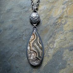 Sterling Silver Necklace with Crazy Lace Agate by McComseyDesigns...she uses the most gorgeous stones in her pieces