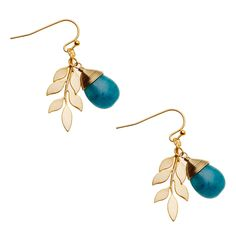 Love these Jade and gold leaf earrings