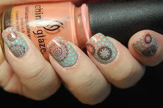 Born Pretty Store Doily Water decals. Gradient colors. WANT!