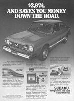 Subaru 2-Door Sedan 1977 Ad Picture