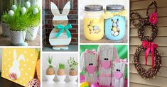 DIY Easter decorations are always so much cuter and more durable than those you can buy at the store. See the best ideas and designs!