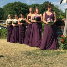 4 different styles of my bridesmaids dresses. They all look gorgeous!