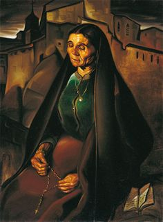 Lam, Wilfredo (1902-1982) - 1927 The Old Woman and Rosary by RasMarley, via Flickr
