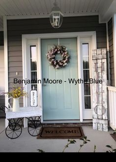 Home Renovation Front Door House, Home, Paint Colors For Home, Beach House Decor, Painted Front Doors, House Exterior, Exterior House Colors, New Homes, Front Door