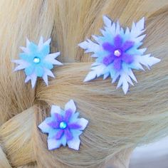 Elsa's Snowflake Hair Barrettes | Spoonful