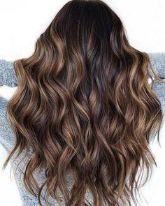 Black Hair With Chocolate Brown Balayage