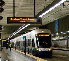 Seattle Airport Fast Light Rail Train~ Convenient and fast way of getting to/from the airport Seattle Airport, Seattle Travel, Moving To Seattle, Seattle Vacation, Downtown Seattle, Seattle Area, Alaska Travel, Alaska Cruise, Seattle Washington