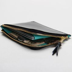 2013 Black Zipper Coin Purses  split leather coin bag  Hiram Beron coin wallets Casual Unisex $35.00