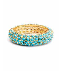 Turquoise cabochon bracelet.