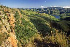 de Drakensbergen -- Zuid-Afrika